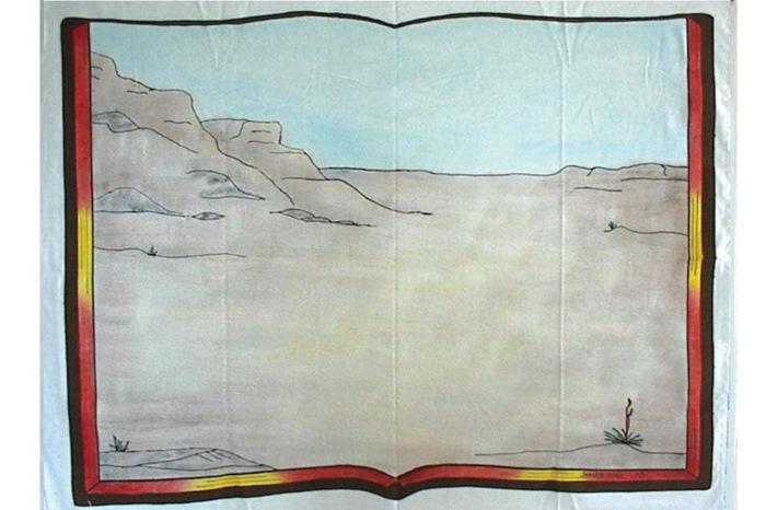 Flonelbaggrund - Ørken